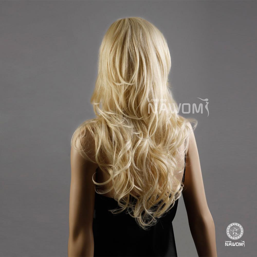 最新流行假发图片金色长卷蓬松逼真假发女生假发套欧美畅销假发时尚图片